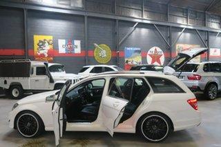 2013 Mercedes-Benz C-Class W204 MY13 C250 Estate 7G-Tronic + Avantgarde White 7 Speed.
