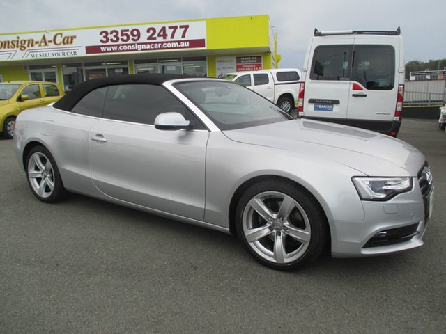 Used Audi A5 8T MY14 Multitronic, 2014 Audi A5 8T MY14 Multitronic Silver 8 Speed Constant Variable Cabriolet