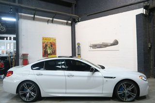 2014 BMW 6 Series F06 MY0314 640d Gran Coupe Steptronic White 8 Speed Sports Automatic Sedan.