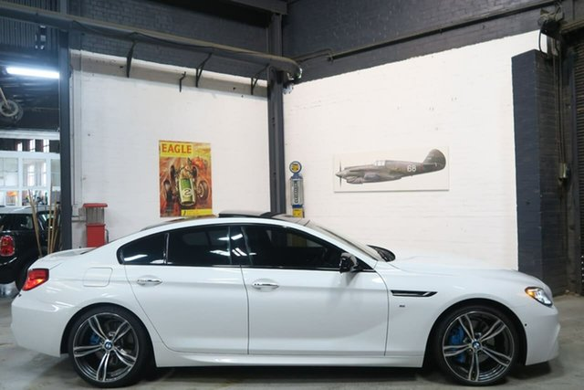 Used BMW 6 Series F06 MY0314 640d Gran Coupe Steptronic, 2014 BMW 6 Series F06 MY0314 640d Gran Coupe Steptronic White 8 Speed Sports Automatic Sedan