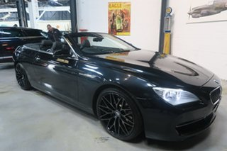 2013 BMW 6 Series F12 MY1112 640i Steptronic Black 8 Speed Sports Automatic Convertible