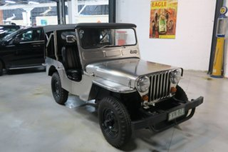 1953 Willys Jeep CJ-3A Silver Manual Utility.
