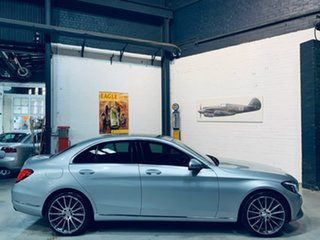 2014 Mercedes-Benz C-Class W205 C200 7G-Tronic + Silver 7 Speed Sports Automatic Sedan.