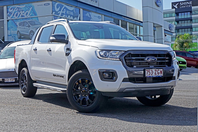 Used Ford Ranger PX MkIII 2019.75MY Wildtrak Pick-up Double Cab, 2019 Ford Ranger PX MkIII 2019.75MY Wildtrak Pick-up Double Cab White 6 Speed Sports Automatic