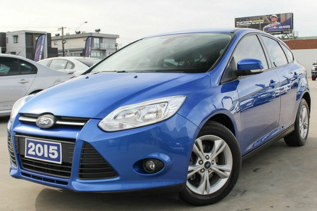 Used Ford Focus LW MkII MY14 Trend PwrShift Coburg North, 2015 Ford Focus LW MkII MY14 Trend PwrShift Blue 6 Speed Automatic Hatchback