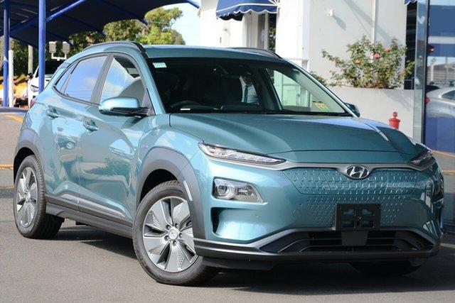 New Hyundai Kona OS.3 MY19 electric Highlander, 2019 Hyundai Kona OS.3 MY19 electric Highlander Ceramic Blue 1 Speed Reduction Gear Wagon