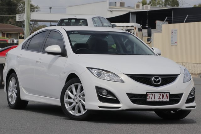 Used Mazda 6 GH1052 MY12 Touring, 2012 Mazda 6 GH1052 MY12 Touring White 5 Speed Sports Automatic Sedan