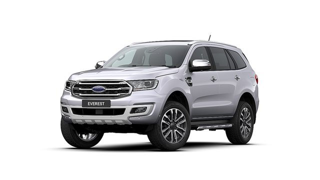 New Ford Everest UA II 2020.25MY Titanium Christies Beach, 2020 Ford Everest UA II 2020.25MY Titanium Alabaster Silver 10 Speed Sports Automatic SUV