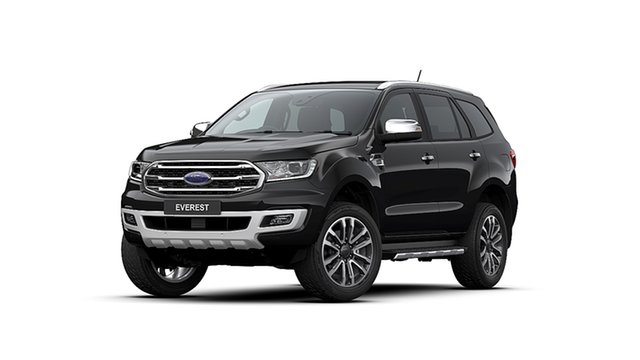 New Ford Everest UA II MY20.25 Titanium (4WD 7 Seat), 2020 Ford Everest UA II MY20.25 Titanium (4WD 7 Seat) Shadow Black 10 Speed Auto Seq Sportshift