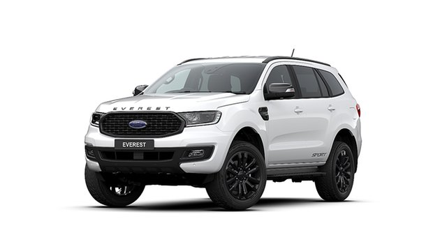 New Ford Everest UA II MY20.25 Sport (4WD 7 Seat), 2020 Ford Everest UA II MY20.25 Sport (4WD 7 Seat) Arctic White 10 Speed Auto Seq Sportshift Wagon