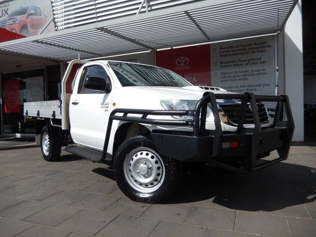 Used Toyota Hilux KUN26R MY14 SR (4x4), 2015 Toyota Hilux KUN26R MY14 SR (4x4) Glacier White 5 Speed Manual Cab Chassis