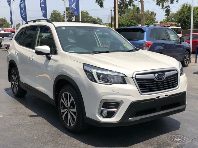 New Subaru Forester S5 MY20 2.5i Premium CVT AWD, 2019 Subaru Forester S5 MY20 2.5i Premium CVT AWD Crystal White Pearl 7 Speed Constant Variable