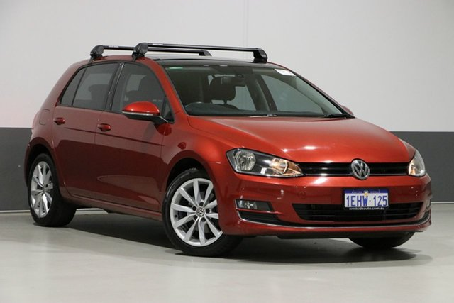 Used Volkswagen Golf AU 103 TSI Highline, 2013 Volkswagen Golf AU 103 TSI Highline Burgundy 7 Speed Auto Direct Shift Hatchback