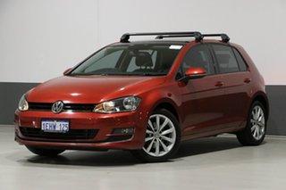 2013 Volkswagen Golf AU 103 TSI Highline Burgundy 7 Speed Auto Direct Shift Hatchback.