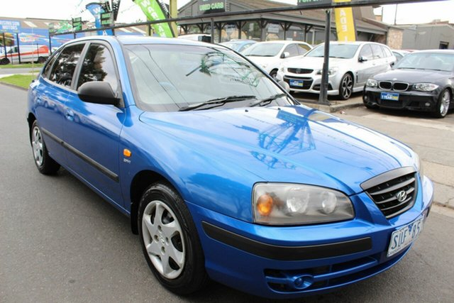 Used Hyundai Elantra XD MY04 West Footscray, 2004 Hyundai Elantra XD MY04 Blue 5 Speed Manual Hatchback