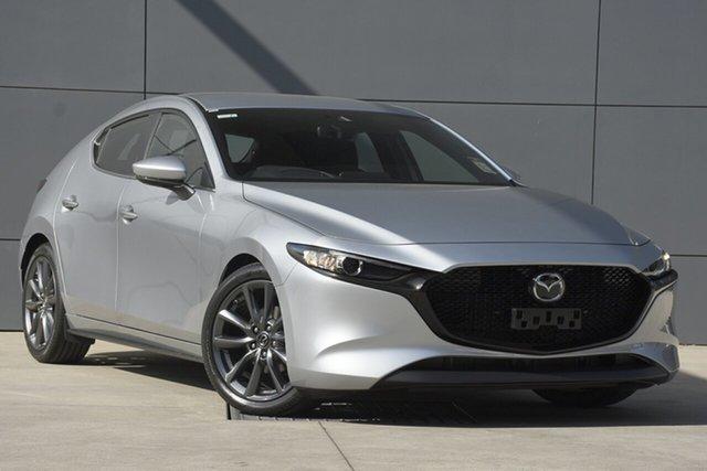 New Mazda 3 BP2H7A G20 SKYACTIV-Drive Evolve, 2019 Mazda 3 BP2H7A G20 SKYACTIV-Drive Evolve Sonic Silver 6 Speed Sports Automatic Hatchback