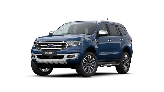 New Ford Everest UA II MY20.25 Titanium (4WD 7 Seat), 2020 Ford Everest UA II MY20.25 Titanium (4WD 7 Seat) Deep Crystal Blue 10 Speed Auto Seq Sportshift