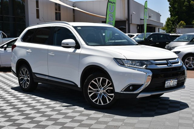 Used Mitsubishi Outlander ZK MY16 XLS 4WD, 2015 Mitsubishi Outlander ZK MY16 XLS 4WD White 6 Speed Constant Variable Wagon