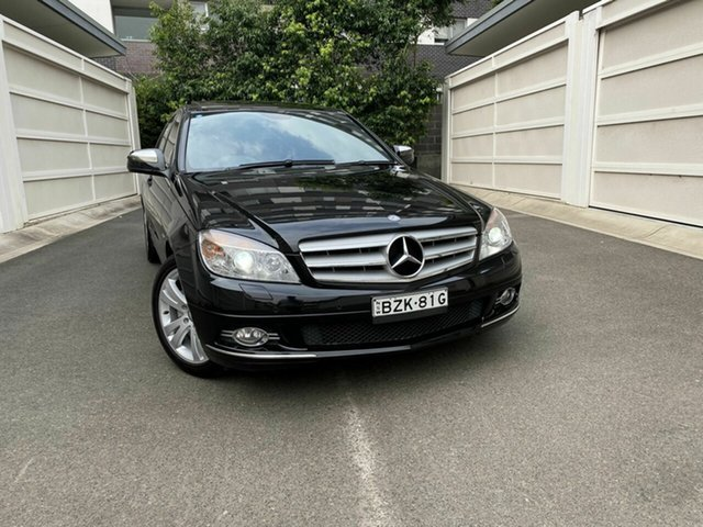 Used Mercedes-Benz C-Class W204 C280 Avantgarde, 2008 Mercedes-Benz C-Class W204 C280 Avantgarde Black 7 Speed Sports Automatic Sedan