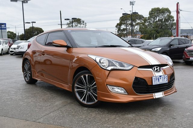 Used Hyundai Veloster FS4 Series II + Coupe, 2015 Hyundai Veloster FS4 Series II + Coupe Orange 6 Speed Manual Hatchback