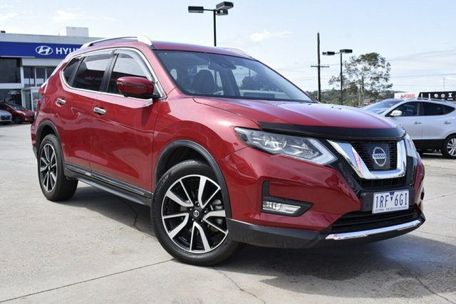 Used Nissan X-Trail T32 Series II TL X-tronic 4WD, 2018 Nissan X-Trail T32 Series II TL X-tronic 4WD Red/Black 7 Speed Constant Variable Wagon