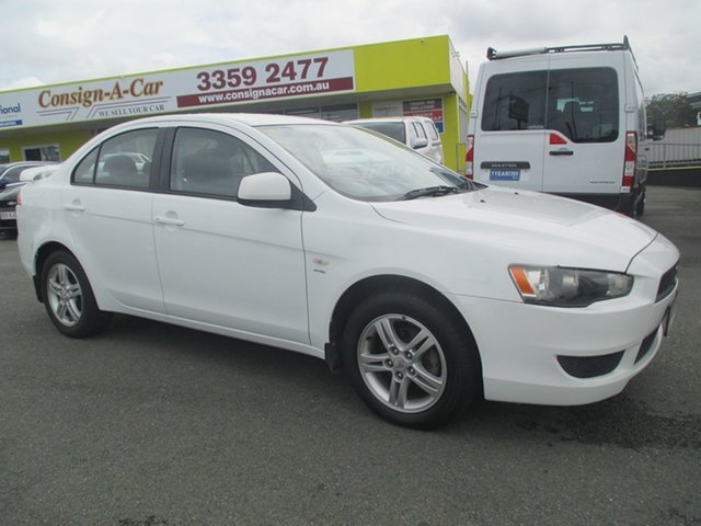 Used Mitsubishi Lancer CJ MY08 ES, 2007 Mitsubishi Lancer CJ MY08 ES White 5 Speed Manual Sedan