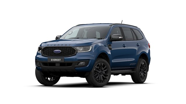 New Ford Everest UA II MY20.25 Sport (4WD 7 Seat), 2020 Ford Everest UA II MY20.25 Sport (4WD 7 Seat) Deep Crystal Blue 10 Speed Auto Seq Sportshift