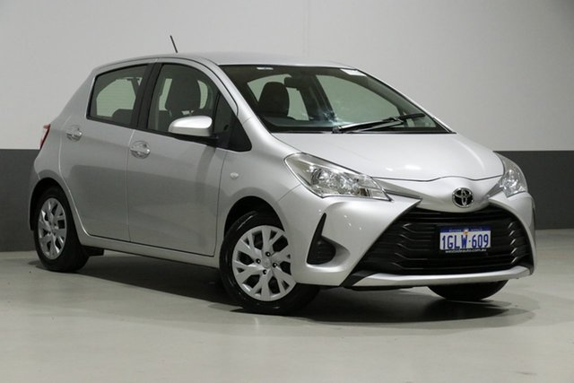 Used Toyota Yaris NCP130R MY18 Ascent, 2018 Toyota Yaris NCP130R MY18 Ascent Silver 4 Speed Automatic Hatchback