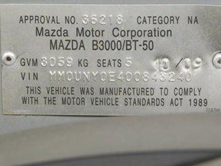 2009 Mazda BT-50 UNY0E4 DX Silver 5 Speed Automatic Utility
