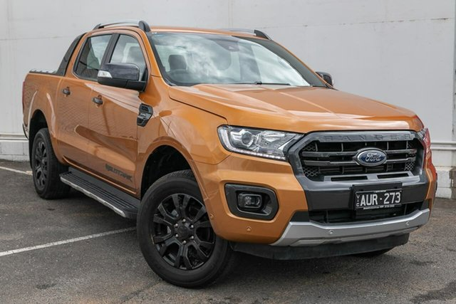 Used Ford Ranger PX MkIII 2019.00MY Wildtrak Pick-up Double Cab, 2018 Ford Ranger PX MkIII 2019.00MY Wildtrak Pick-up Double Cab Orange 10 Speed Sports Automatic