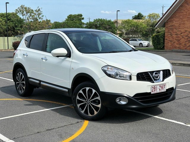 Used Nissan Dualis J10W Series 3 MY12 Ti-L Hatch X-tronic 2WD, 2012 Nissan Dualis J10W Series 3 MY12 Ti-L Hatch X-tronic 2WD White 6 Speed Constant Variable