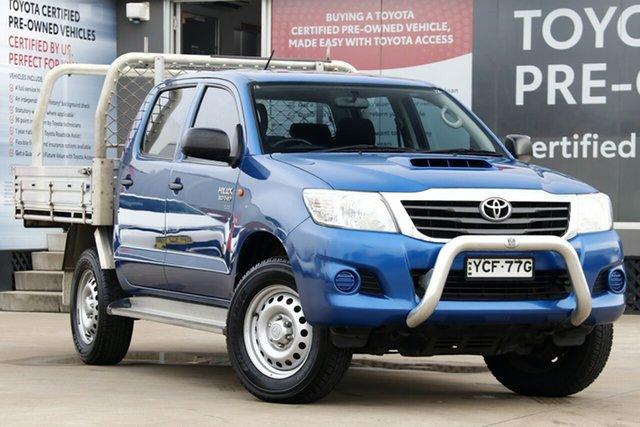 Used Toyota Hilux KUN26R MY14 SR (4x4), 2015 Toyota Hilux KUN26R MY14 SR (4x4) Nebula Blue 5 Speed Automatic Double Cab Chassis