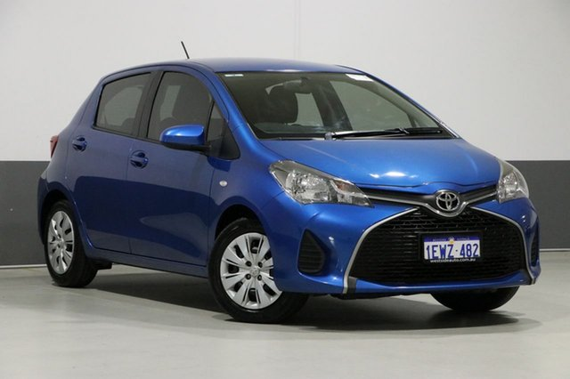 Used Toyota Yaris NCP130R MY15 Ascent, 2015 Toyota Yaris NCP130R MY15 Ascent Blue 4 Speed Automatic Hatchback
