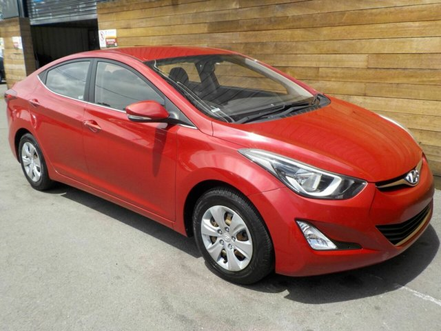 Used Hyundai Elantra MD3 Active, 2014 Hyundai Elantra MD3 Active Red 6 Speed Sports Automatic Sedan