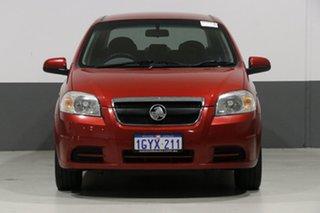 2010 Holden Barina TK MY10 Maroon 4 Speed Automatic Sedan.