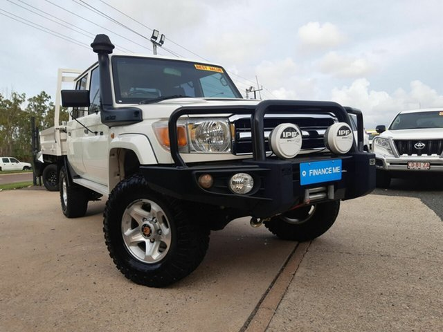 Used Toyota Landcruiser VDJ79R MY13 GXL Double Cab, 2013 Toyota Landcruiser VDJ79R MY13 GXL Double Cab White 5 Speed Manual Cab Chassis
