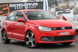 2013 Volkswagen Polo 6R MY14 GTI DSG Red 7 Speed Sports Automatic Dual Clutch Hatchback.