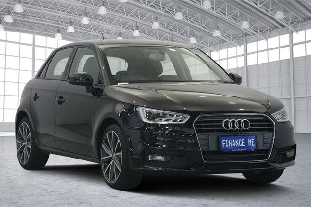 Used Audi A1 8X MY16 Sport Sportback S Tronic, 2016 Audi A1 8X MY16 Sport Sportback S Tronic Black 7 Speed Sports Automatic Dual Clutch Hatchback