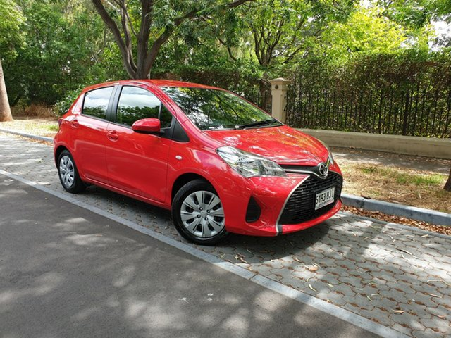 Used Toyota Yaris NCP130R Ascent, 2015 Toyota Yaris NCP130R Ascent Red 4 Speed Automatic Hatchback