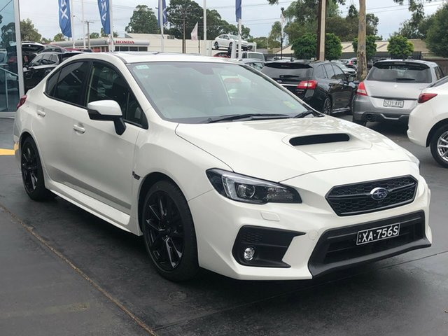 Demo Subaru WRX V1 MY20 Premium Lineartronic AWD, 2020 Subaru WRX V1 MY20 Premium Lineartronic AWD Crystal White Pearl 8 Speed Constant Variable Sedan