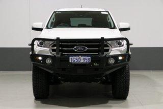 2018 Ford Everest UA II MY19 Trend (4WD 7 Seat) White 10 Speed Auto Seq Sportshift Wagon.