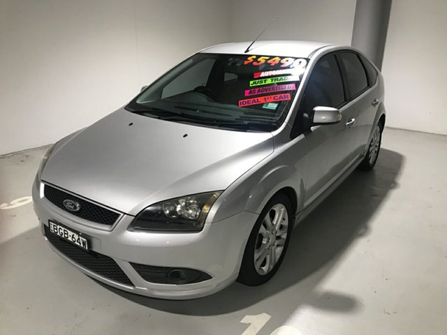 Used Ford Focus LT Zetec, 2007 Ford Focus LT Zetec Silver 4 Speed Sports Automatic Hatchback