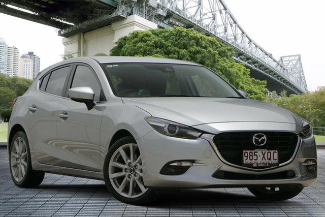 Used Mazda 3 BN5438 SP25 SKYACTIV-Drive, 2017 Mazda 3 BN5438 SP25 SKYACTIV-Drive Silver 6 Speed Sports Automatic Hatchback