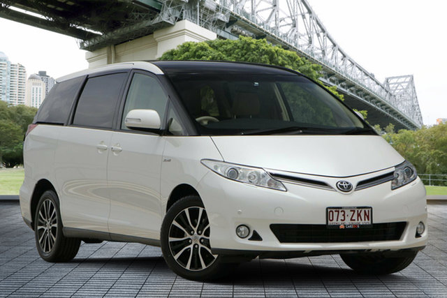 Used Toyota Tarago GSR50R MY13 Ultima, 2015 Toyota Tarago GSR50R MY13 Ultima White 6 Speed Sports Automatic Wagon