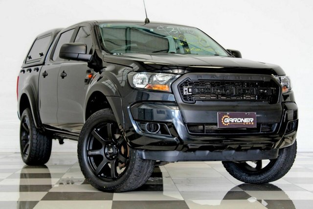 Used Ford Ranger PX MkII XL 2.2 Hi-Rider (4x2), 2015 Ford Ranger PX MkII XL 2.2 Hi-Rider (4x2) Black 6 Speed Automatic Crew Cab Pickup