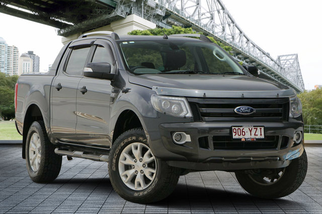 Used Ford Ranger PX Wildtrak Double Cab, 2012 Ford Ranger PX Wildtrak Double Cab Grey 6 Speed Sports Automatic Utility