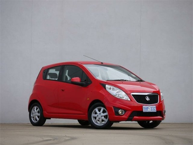 Used Holden Barina Spark MJ CD, 2011 Holden Barina Spark MJ CD Chilli Red 5 Speed Manual Hatchback