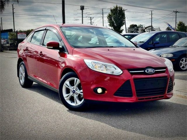 Used Ford Focus LW MkII Trend, 2013 Ford Focus LW MkII Trend Red Sports Automatic Dual Clutch Sedan