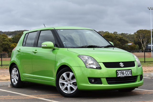 Used Suzuki Swift FZ GLX, 2011 Suzuki Swift FZ GLX Green 5 Speed Manual Hatchback