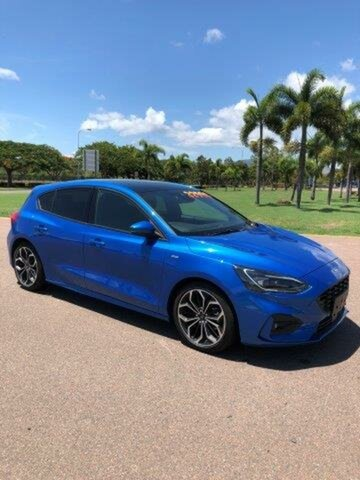 Used Ford Focus SA 2019MY ST-Line, 2018 Ford Focus SA 2019MY ST-Line Desert Island Blue 8 Speed Automatic Hatchback